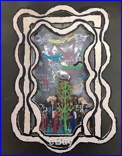 Rare Reverand Howard Finster Folk Art 1984 Mixed Media Folk Art Diorama