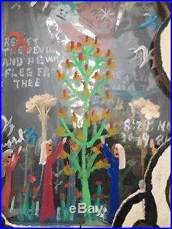 Rare Reverand Howard Finster Folk Art Diorama Mixed Media 1984