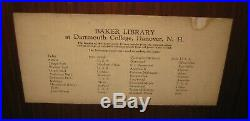 Rare Vintage'BAKER LIBRARY DARTMOUTH College MARQUETRY Wood Inlay Panel PICTURE