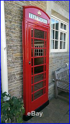 Red Telephone Box Booth Kiosk K6 Front Mirror