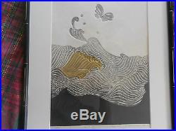 Reika Iwami, 1976 signed art, 29/70 Japanese Wood Block -Listed Artist Rare