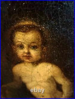 Religiöse Darstellung v. Maria um 1750 / Meisterliche Malerei -Tolle Darstellung