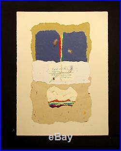 Ricardo Benaim Letter to Zapata Signed Mixed Media Art Collage, Make Offer