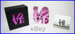 Robert Indiana Love Sculpture Museum Edition Ima Official Pink Sold Out