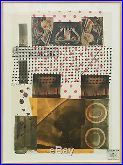 Robert Rauschenberg Cage 1983 Signed Screenprint/collage Others Avail