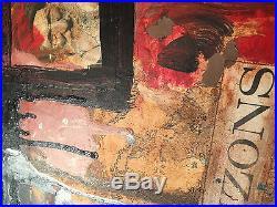 Robert Rauschenberg Original Mixed Media Painting On Wood