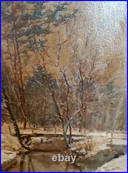 Romantischer Winterwald unl. Signiert / TOLLE ARBEIT