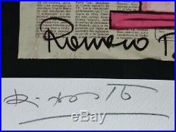 Romero Britto Rosada Mixed Media 2013 Hand Signed Numbered 147/180 Coa