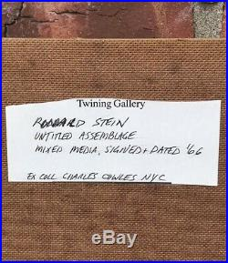Ronald Stein Shadowbox Assemblage. Signed. 1966 Lee Krasner Nephew
