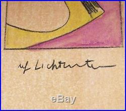 Roy Lichtenstein Original Brad Mixed Media On Cardstock