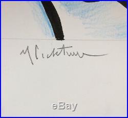 Roy Lichtenstein Original Nude Ink & Colored Pencil Mixed Media On Cardstock