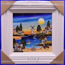 Rozanne Bell Evening Beach (16 x 16) (Original Framed) In Stock