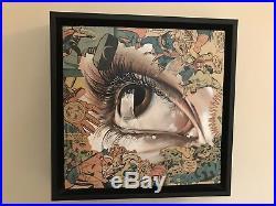 SANDRA CHEVRIER La Cage Dans Lattente 12 X 12 Mixed Media On Canvas (Framed)