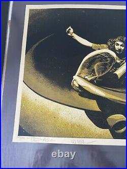SHEPARD FAIREY hand signed Tony Alba Gold Ed 250