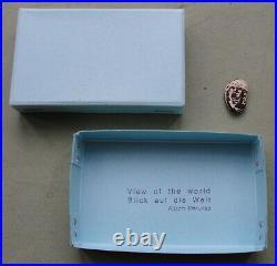 SIGNED Fluxus 1981 Alison KNOWLES BLUE BOX multiple, 80 copies bean
