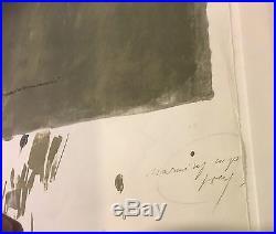 STEVER Jorge B. 1940 Warming up grey überarbeitetes Litho 39/40 z. T. Unikat