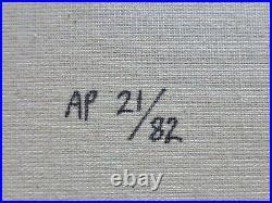 STEVE KAUFMAN BATMAN HAND SIGNED EMBELLISHED SCREENPRINT CANVAS 34 x 37