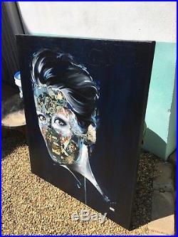 Sandra Chevrier Original Painting/Mixed Media On Canvas (90cm x 75cm)