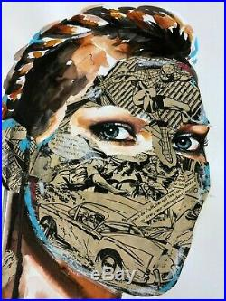 Sandra Chevrier Original on Paper Mixed Media 2013 Spiderman