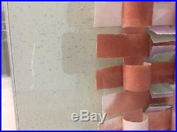 Signed Original Greg Copeland 3D Art Mixed Media Collage Plexiglass Frame 1984