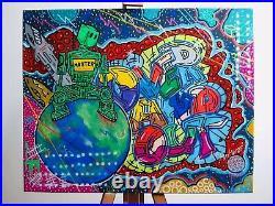 Signed Original painting, Graffiti, Street Art, Mixed Media, Resin, Totally Unique