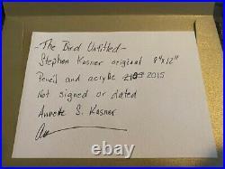 Stephen Kasner Original Mixed Media, Acrylic, Pencil, and Oil on Custom Paper