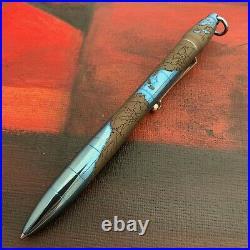 Streltsov Art Mixed Media Custom Anodizing Titanium Pen Amelia Maps