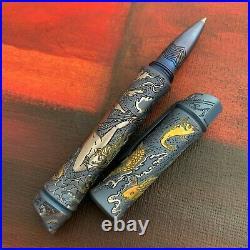 Streltsov Art Mixed Media Custom Tactical Titanium Pen Hitori Fishing Net