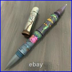 Streltsov Art Mixed Media Custom Tactical Titanium Pen Pike Kamikaze Lily