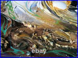 Strukturgemälde Design Modern Abstrakt Öl Acryl Gemälde BILD von Bozena Ossowski