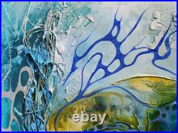Strukturgemälde Ein Buntes Blaues Paradies auf die Erde von Bozena Ossowski