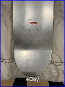 Supreme Logo Silver Foil Skateboard 2009
