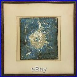 THOMAS EWING 20th c. American PAFA Artist MIXED MEDIA ABSTRACT PAINTING 1969