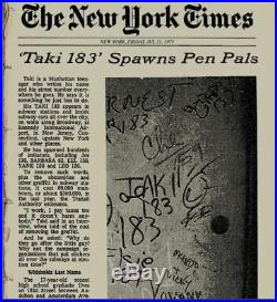 Taki 183 New York Graffiti Painted Nyc Subway Map Seen Must See