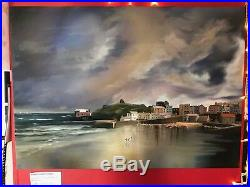 Tenby Harbour Mixed Media Landscape Seascape Master Print