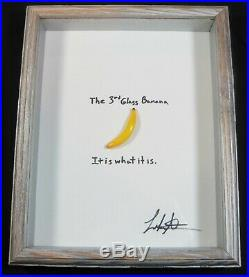 The Third Glass Banana. It is what it is. By Leah Nietz Glass Artist SRA