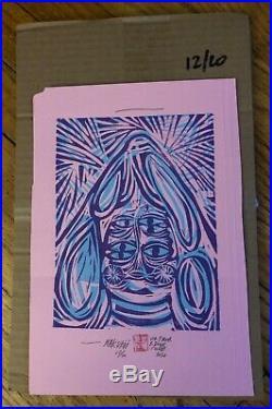 Thomas Campbell original block print 2020 mix media Limited Edition/20