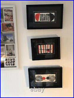 Three Authentic Framed Terry Frost Collages
