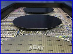 Three Stages of Silicon Wafers Computer Chips GMT, SCSI, Chip Making