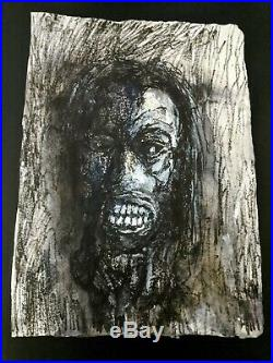 Through The Dark artwork by Clive Barker 10.5x14in Mixed Media