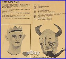 Tibor Kovalik (b. 1935) Slovakian/Canadian Listed Original Mixed Media Abstract