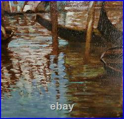 Traumhaft schöne Venedig-Darstellung unl. Signiert