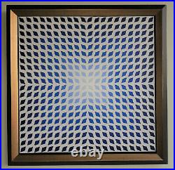 VICTOR VASARELY 400-Blue-Signed made of 400 pieces of plastic