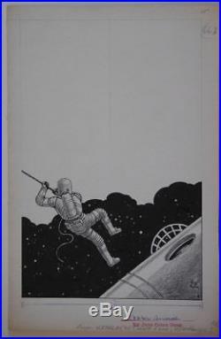 VIRGIL FINLAY original art, Signed, AMAZING STORIES, 7x11, Sci-fi, 1965-1970