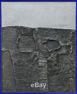 Valerios Caloutsis Greek Spatialist Mixed Media Abstract Landscape Lucio Fontana
