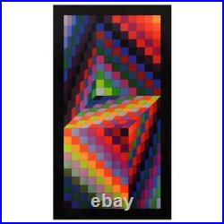 Victor Vasarely (1908-1997) Axo-77 Heliogravure Print, Titled Inverso