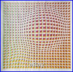 Victor Vasarely, Mixed Media on Paper, Signed