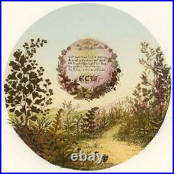 Victorian 19th-century Pressed Leaf Painting Landscape Scene with Verse