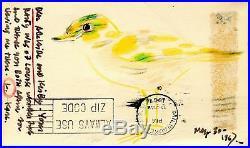 Vintage 1967 Karl Priebe Shorebird Fine Art Lake MI Abraham Lincoln Postcard Wi
