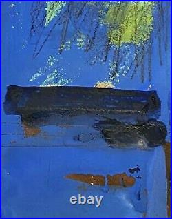 Vintage Abstract Expressionist Modernist Urban Figure Study Portrait Painting